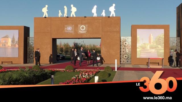 Cover Vidéo - Les images de l'arrivée des chefs d'Etat et de gouvernement Marrakech Conférence ONU
