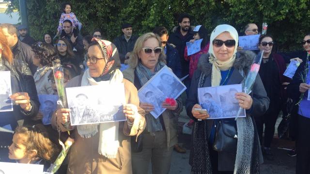 Assassinat de deux touristes scandinaves sit-in de solidarité11