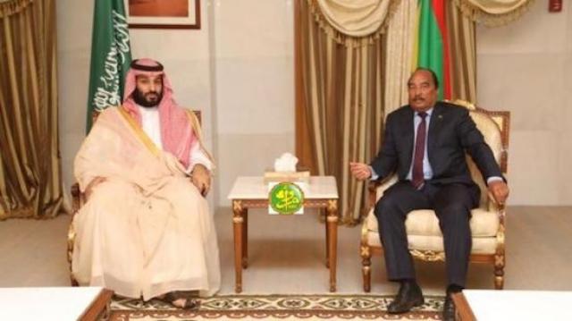 Mohamed ben Salman et Mohamed ould Abdelaziz