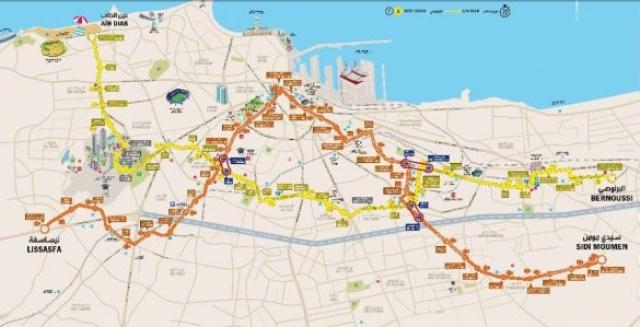 Plan tramway Casablanca