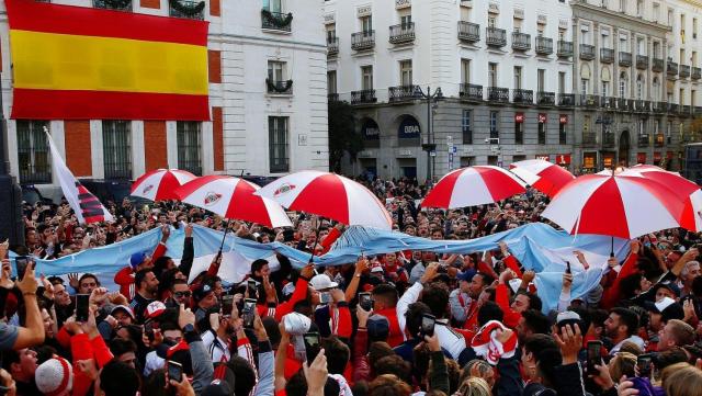 Supporters de River Plate à Madrid