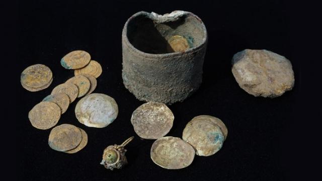 Le trésor découvert à Césarée (3 décembre 2018)