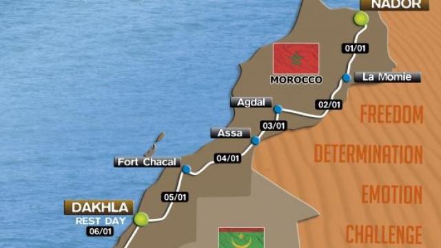 eco race- carte du maroc