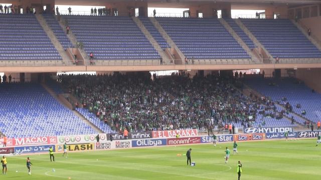Public au stade de Marrakech lors du derby 125
