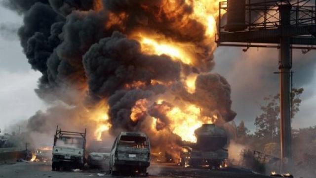 explosion d'un camion citerne