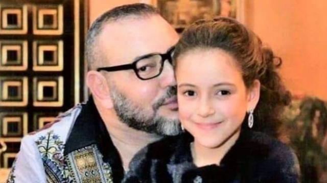 Le roi Mohammed VI et la princesse Lalla Khadija