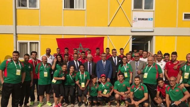 talbi Alami et athlètes