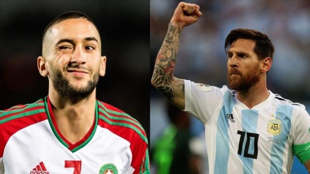Maroc v Argentine Ziyech v Messi