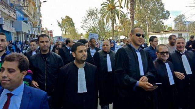 Avocats manifestants en algérie