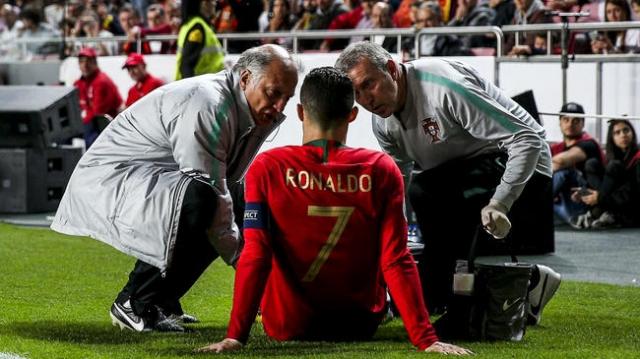 ronaldo blessure Portugal