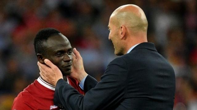 Zidane et Sadio Mané