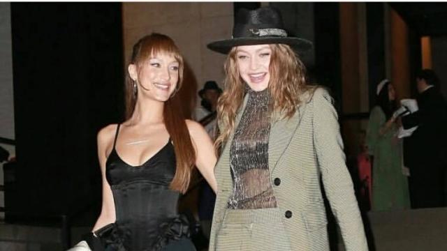 Gigi Hadid en chapeau Youssef Lahlou