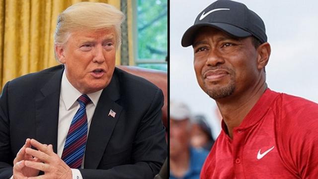Donald Trump et Tiger Woods