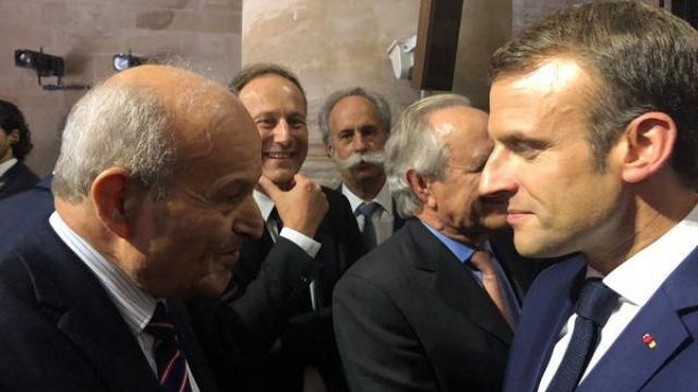 Issad Rebrab et Emmanuel Macron