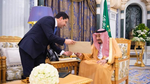 Le roi d'Arabie Saoudite Salmane Bin Abdelaziz Al Saoud