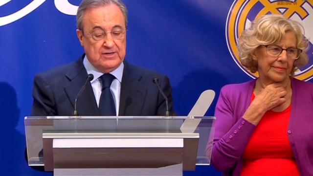 F. Perez et la maire de Madrid, Manuela Carmena