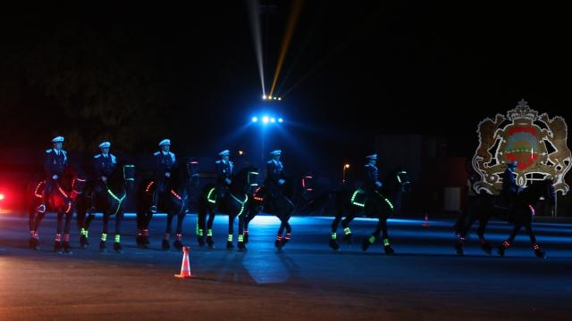 Lors des célébrations, jeudi soir, du 63ème anniversaire de la DGSN à l'Institut Royal de police de Kénitra.