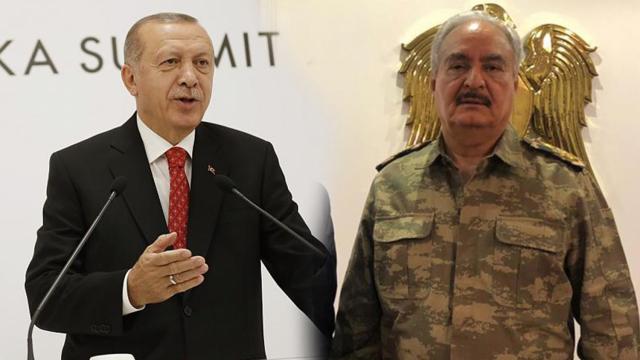 Erdogan et Haftar