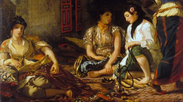 «Femmes d'Alger dans leur appartement», Eugène Delacroix, 1833.