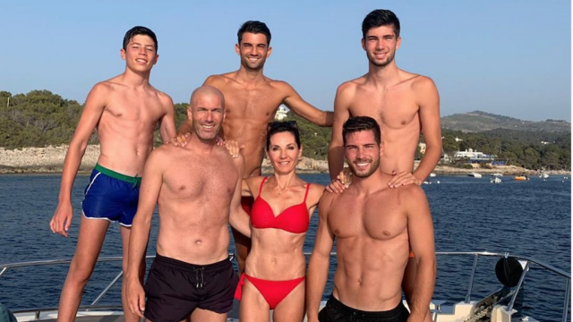 La famille Zidane à Ibiza