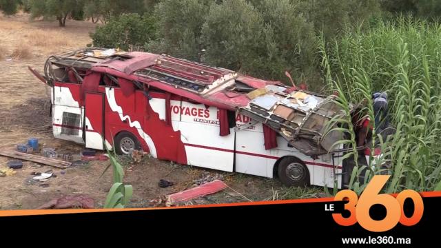 Cover_Vidéo:Le360.ma • ضحايا انقلاب حافلة بتاونات يروون  تفاصيل الفاجعة