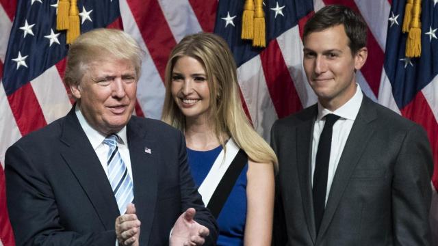 Donald Trump Ivanka et Jared Kushner