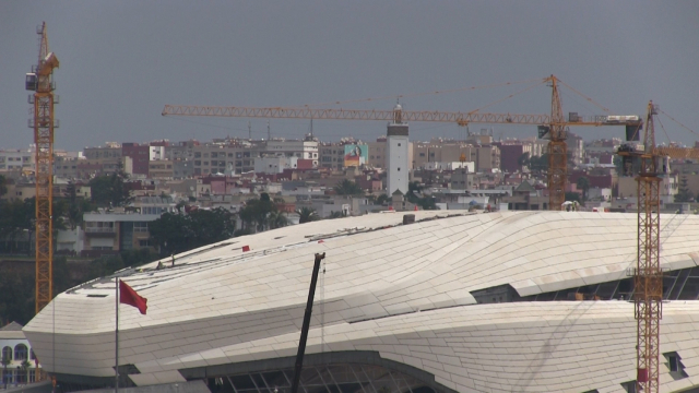 Etats d'avancement des travaux du Grand théâtre Mohammed VI de Rabat