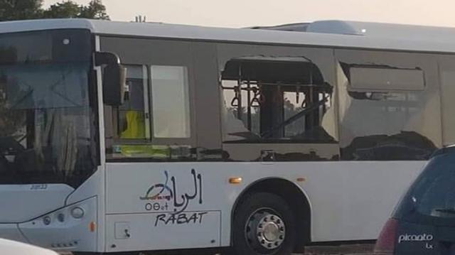 Bus Rabat vandalisé