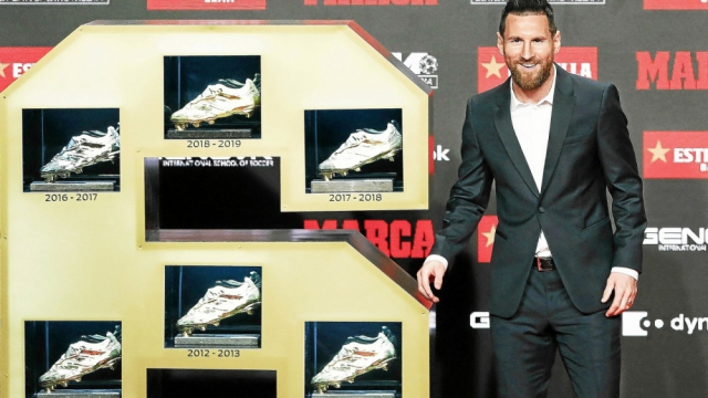 Messi 6e soulier d'or