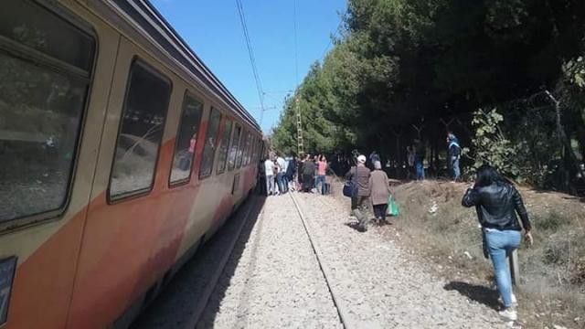 Train Bouskoura déraillement