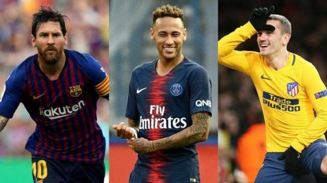 Messi, Neymar et Griezmann
