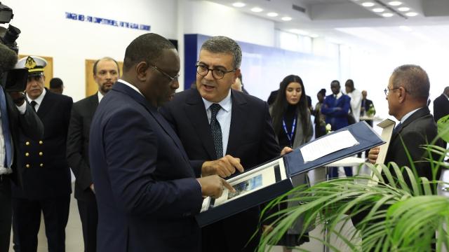 Lors de la visite du président Macky Sall au projet Tanger Med