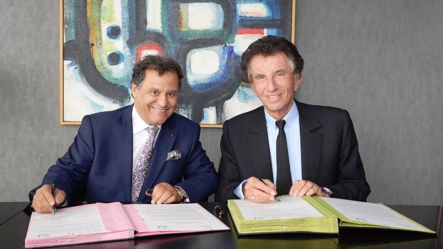 Jack Lang et Mehdi Qotbi