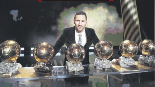 Messi et ses 6 ballons d'or