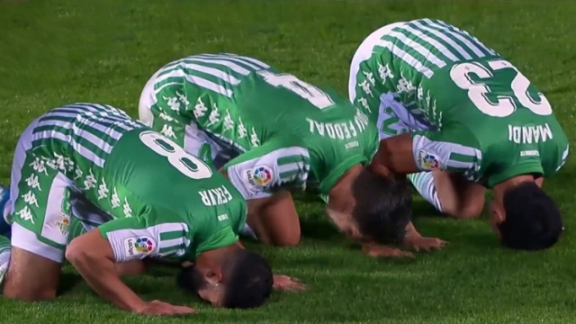 celebration musulmans du Betis