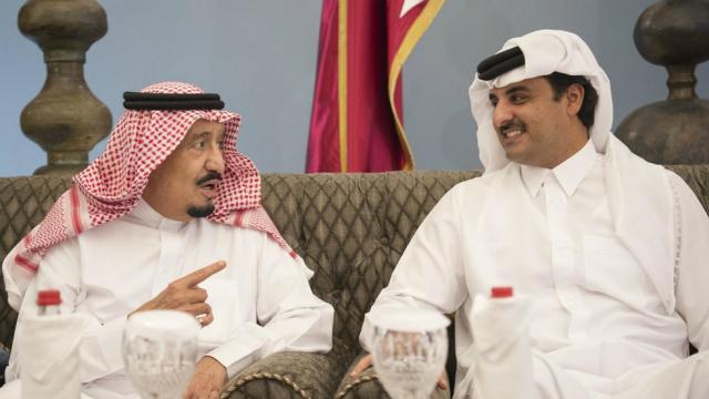 Roi Salmane et Emir du Qatar