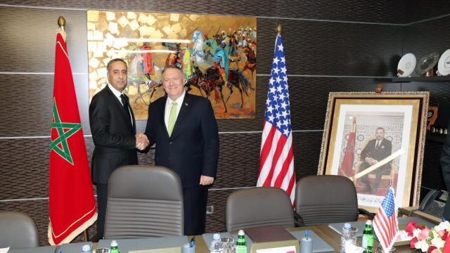Abdellatif Hammouchi et Mike Pompeo.