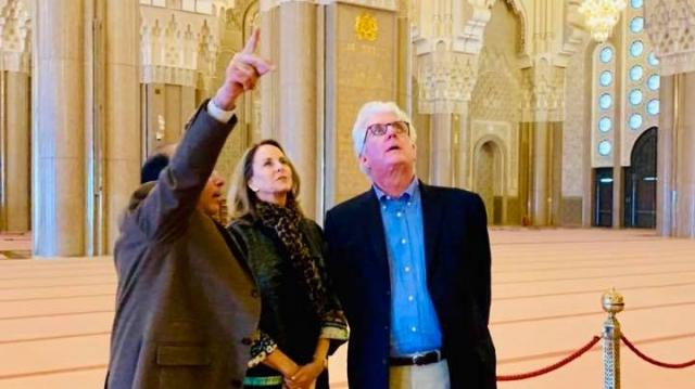 Le nouvel ambassadeur US au Maroc et son épouse à la Mosquée Hassan II