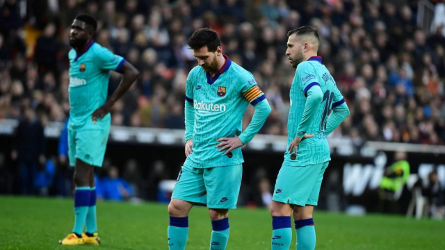 Messi après la défaite à Valence