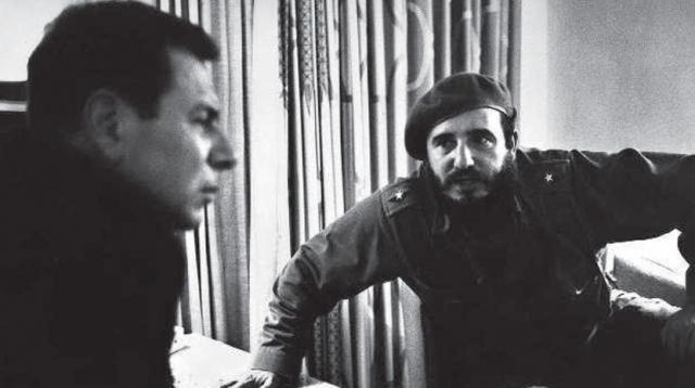 Jean Daniel et Fidel Castro