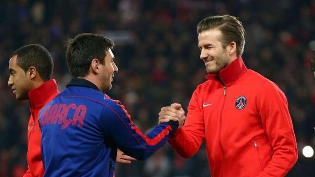 Messi et Beckham