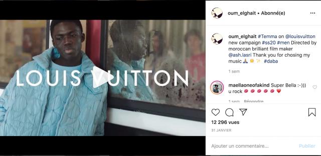 OUm chante pour Louis Vuitton