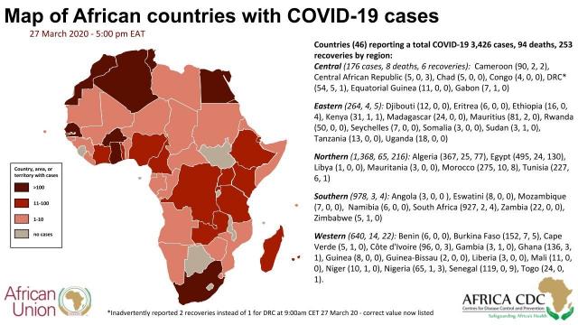 Afrique. Coronavirus: la situation dans les 15 pays les plus touchés
