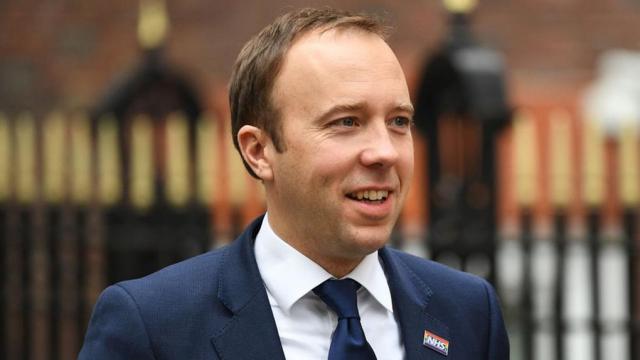 Le ministre britannique de la Santé Matt Hancock