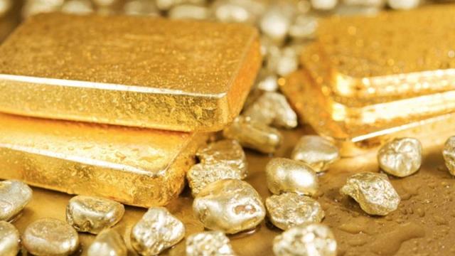 Lingots et pépites d'or