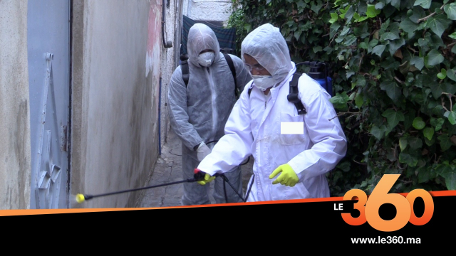 Casablanca-désinfection des rues