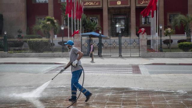 Coronavirus rues Rabat nettoyage