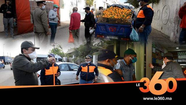vidéo :Le360.ma •هكذا يحرص رجال السلطة على مراقبة تطبيق الحجر الصحي