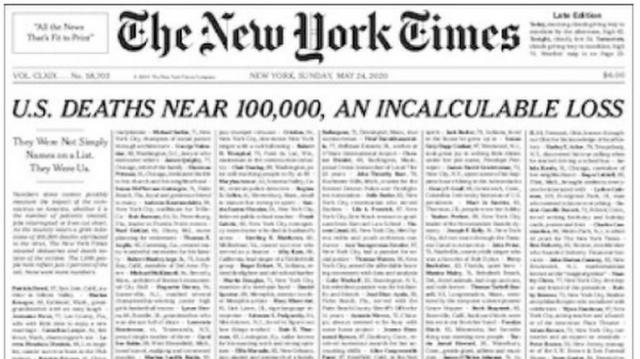 Une du New York Times