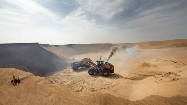 Pillage du sable